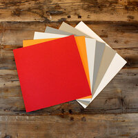 My Colors Cardstock - My Minds Eye - 12 x 12 Heavyweight Cardstock Pack - Smooth Finish - Light Colors 2 - 18 Pack