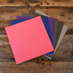 My Colors Cardstock - My Minds Eye - 12 x 12 Heavyweight Cardstock Pack - Smooth Finish - Dark Colors 2