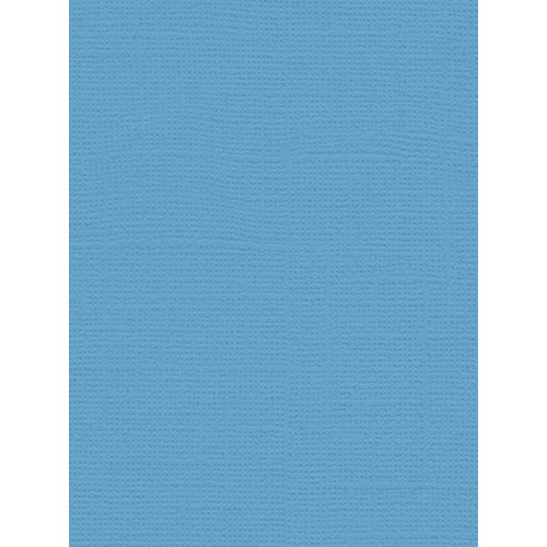 My Colors Cardstock - My Minds Eye - 8.5 x 11 Canvas Cardstock - Madras Blue