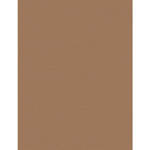 My Colors Cardstock - My Minds Eye - 8.5 x 11 Canvas Cardstock - Chamois