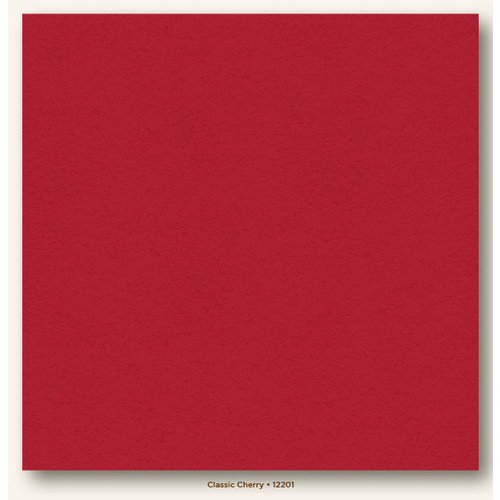 My Colors Cardstock - My Minds Eye - 12 x 12 Heavyweight Cardstock - Classic Cherry