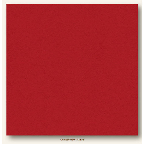 My Colors Cardstock - My Minds Eye - 12 x 12 Heavyweight Cardstock - Chinese Red
