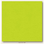 My Colors Cardstock - My Minds Eye - 12 x 12 Heavyweight Cardstock - Lemon Lime