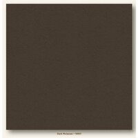 My Colors Cardstock - My Minds Eye - 12 x 12 Heavyweight Cardstock - Dark Molasses