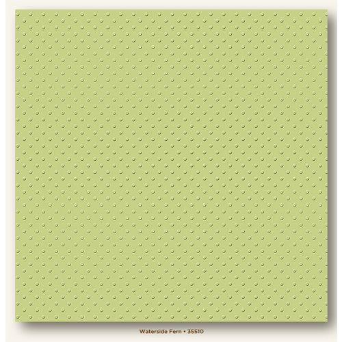My Colors Cardstock - My Minds Eye - 12 x 12 Mini Dots Cardstock - Waterside Fern