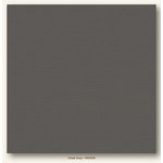 My Colors Cardstock - My Minds Eye - 12 x 12 Canvas Cardstock - Cloak Gray