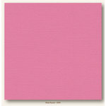 My Colors Cardstock - My Mind's Eye - 12 x 12 Canvas Cardstock - Pink Punch