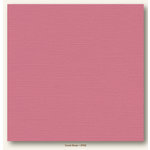My Colors Cardstock - My Minds Eye - 12 x 12 Canvas Cardstock - Coral Rose