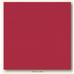 My Colors Cardstock - My Minds Eye - 12 x 12 Canvas Cardstock - Red Cherry