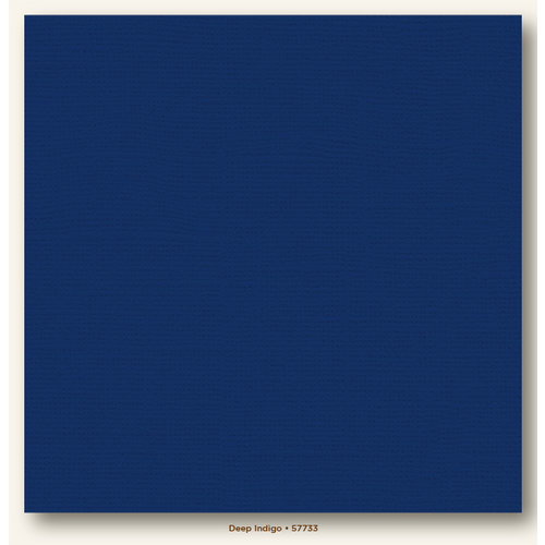 My Colors Cardstock - My Minds Eye - 12 x 12 Canvas Cardstock - Deep Indigo