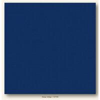 My Colors Cardstock - My Minds Eye - 12 x 12 Canvas Cardstock - Deep Indigo