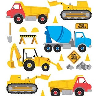 Mrs. Grossman's - Creative Kids Collection - Giant Standard Stickers - Construction Equipment, CLEARANCE