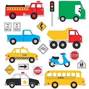 Mrs. Grossman's - Creative Kids Collection - Extravagant Stickers - Vehicles