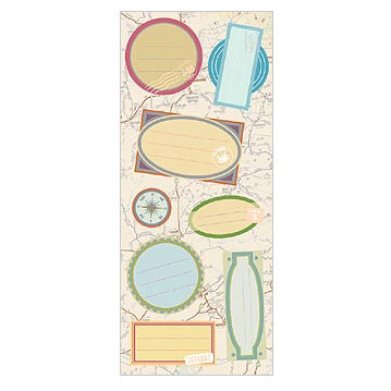 Mrs. Grossman's - Everyday Events Collection - Heartfelt Stickers - Panel On the Map