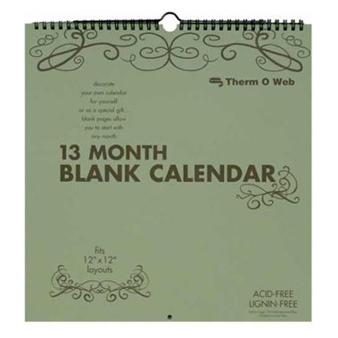 Therm o web 12 x 12 calendar blank 13 month do it yourself solutioingenieria Image collections