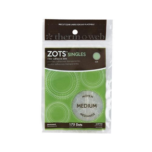 Therm O Web - Memory Zots - Clear Adhesive Dots - Singles Medium