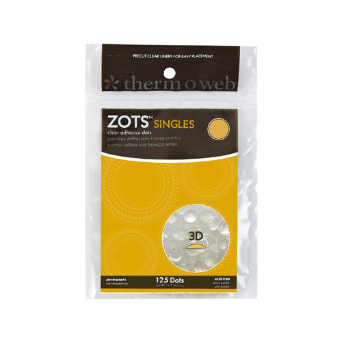 Therm O Web - Memory Zots - Clear Adheisve Dots - Singles 3-D