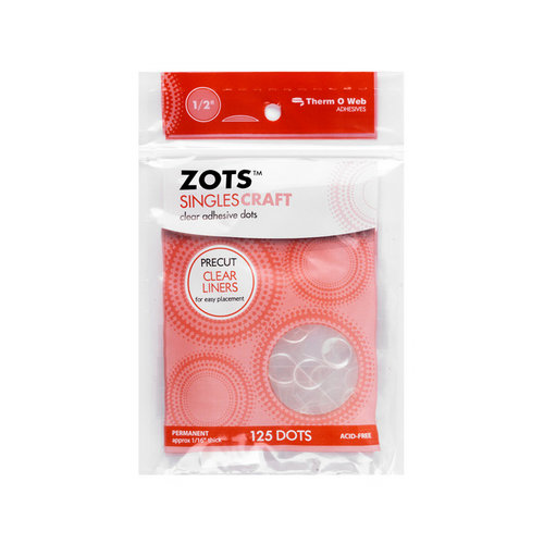 Therm O Web - Memory Zots - Clear Adhesive Dots - Singles Craft