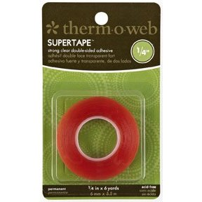 Therm O Web - Super Tape - Double Sided Tape Roll - 1/4 Inch x 6 yards, BRAND NEW