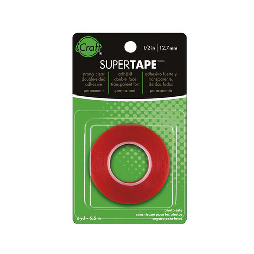 Therm O Web - Super Tape - Double Sided Tape Roll - 1/2 Inch x 6 yards