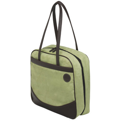MiMi - Travelmate Scrap Tote - Kiwi and Chocolate Microsuede, CLEARANCE