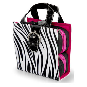 MiMi - Oasis Collection - Embellishment Tote - Zebra Print Microfiber, CLEARANCE