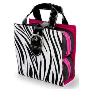 MiMi - Oasis Collection - Embellishment Tote - Zebra Print Microfiber, CLEARANCE