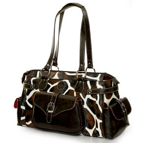 MiMi - Oasis Collection - Designer DSLR Camera Bag - Giraffe Print