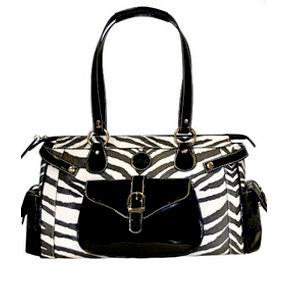 MiMi - Oasis Collection - Designer DSLR Camera Bag - Zebra Print