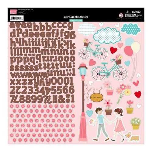 My Little Shoebox - Happy Go Lucky Collection - Cardstock Stickers