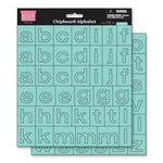 My Little Shoebox - Chipboard Stickers - Alphabet - Waterslide, CLEARANCE