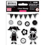 My Little Shoebox - Cute As a Button Collection - Clear Acrylic Stamps