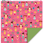 My Little Shoebox - Cute As a Button Collection - 12 x 12 Double Sided Paper - Crystal