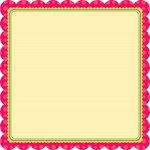 My Little Shoebox - Cute As a Button Collection - 12 x 12 Die Cut Paper - Priscilla