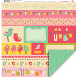 My Little Shoebox - Summer Breeze Collection - 12 x 12 Double Sided Paper - Cotton Fields