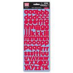 My Little Shoebox - Glittered Cardstock Stickers - Alphabet - Cherry Pie, CLEARANCE