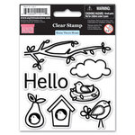 My Little Shoebox - Home Tweet Home Collection - Clear Acrylic Stamps