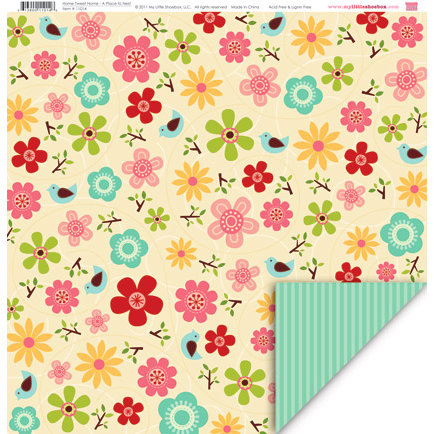 My Little Shoebox - Home Tweet Home Collection - 12 x 12 Double Sided Paper - A Place to Nest