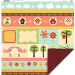 My Little Shoebox - Home Tweet Home Collection - 12 x 12 Double Sided Paper - Birds of a Feather