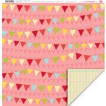 My Little Shoebox - Farmers Market Collection - 12 x 12 Double Sided Paper - Cherries Jubilee