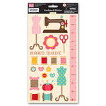 My Little Shoebox - Sew Cute Collection - Cardstock Stickers
