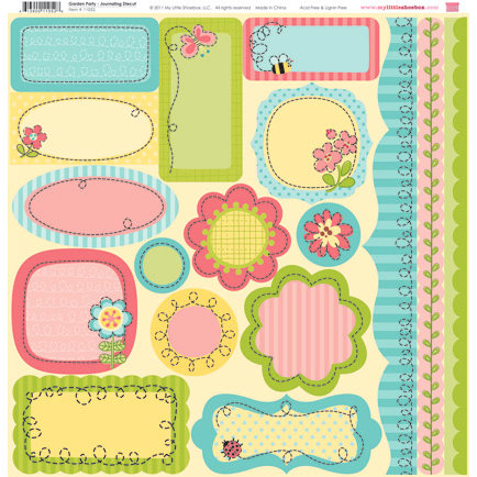 My Little Shoebox - Garden Party Collection - 12 x 12 Journaling Die Cuts