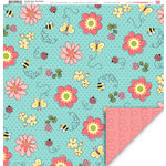 My Little Shoebox - Garden Party Collection - 12 x 12 Double Sided Paper - Easy Breezy