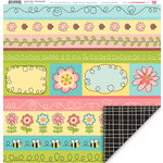 My Little Shoebox - Garden Party Collection - 12 x 12 Double Sided Paper - Blooming Trails