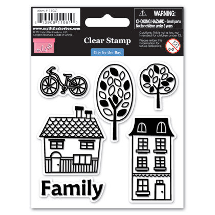 My Little Shoebox - City by the Bay Collection - Clear Acrylic Stamps, BRAND NEW - click to enlarge