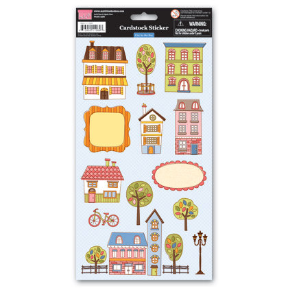 My Little Shoebox - City by the Bay Collection - Cardstock Stickers