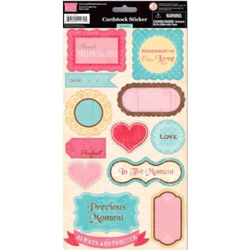 My Little Shoebox - Heartfelt Collection - Cardstock Stickers