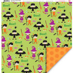 My Little Shoebox - Trick or Treat Collection - Halloween - 12 x 12 Double Sided Paper - Monster Crossing