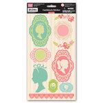 My Little Shoebox - Audrey Collection - Cardstock Stickers