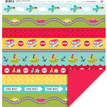 My Little Shoebox - Destination Collection - 12 x 12 Double Sided Paper - Sit Back and Relax